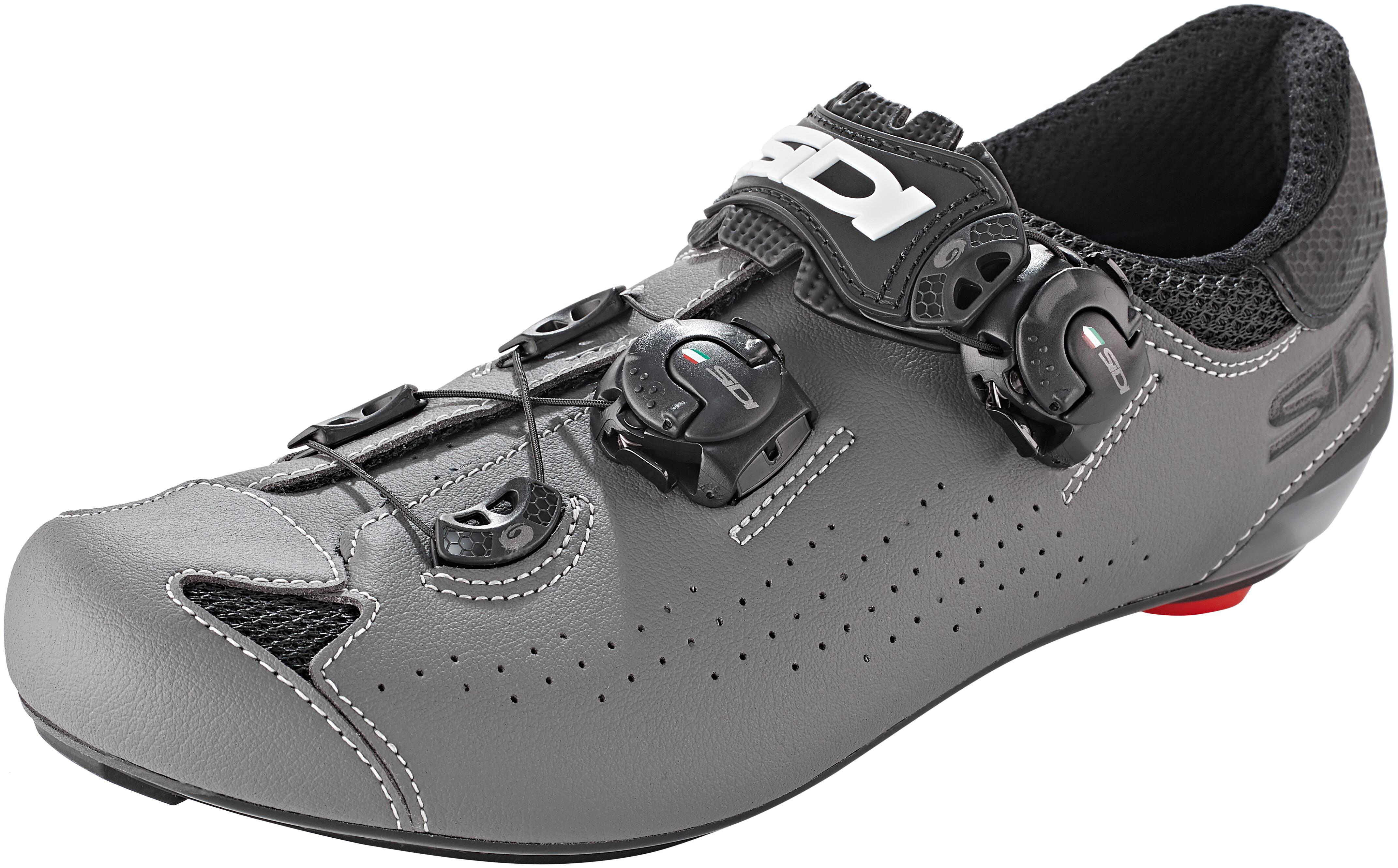 Noir Gris SIDI Genius 10 Chaussures de Cyclisme pour Homme 41,5